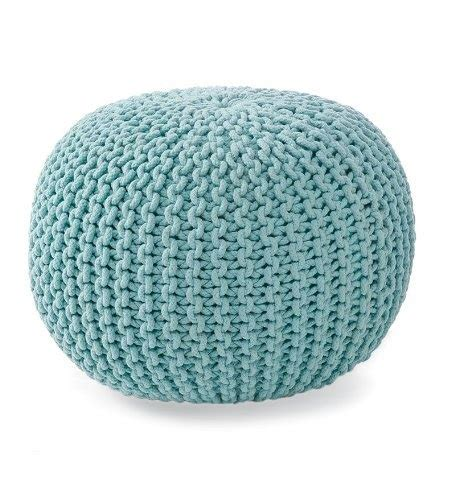 knitted poufs uk pouf ottoman poufs and light blue on