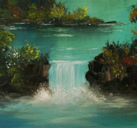 bob ross painting a waterfall bob ross by starfields