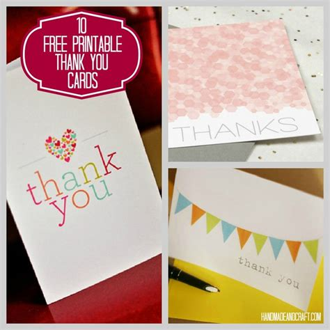 card websites for free thank you cards printable