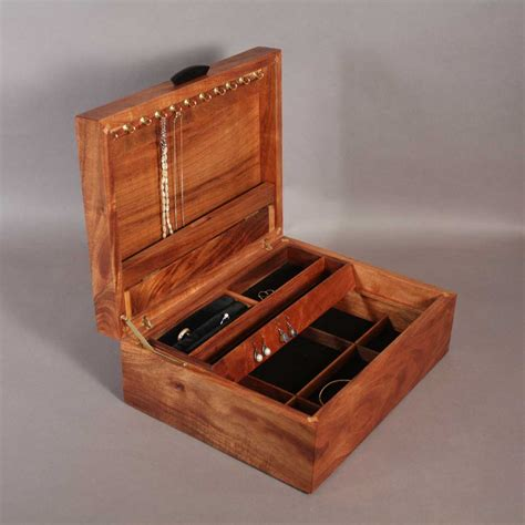 jewelry box koa jewelry boxes with handcrafted inlay
