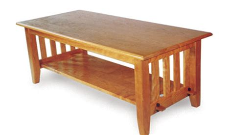 arts and crafts coffee table plans arts and crafts style coffee table finewoodworking