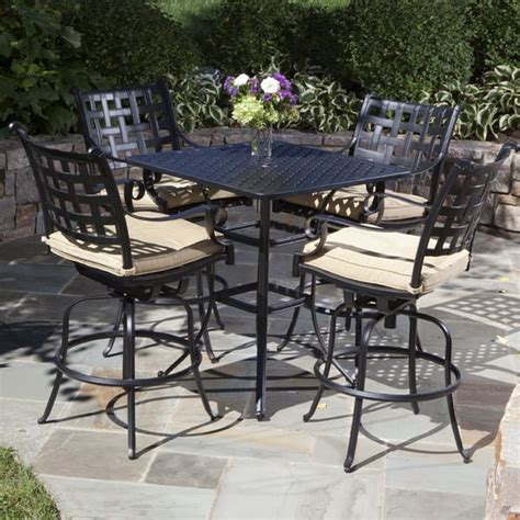 bar set patio furniture chateau bar height outdoor patio furniture set