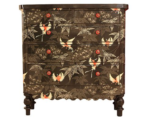 decoupage furniture with wallpaper blackbirds by bryonie porter wallpaper osborne