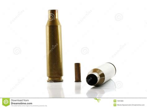 with used bullet casings three used bullet casings royalty free stock images