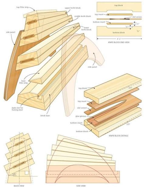 knife block woodworking plans knifeblock illo
