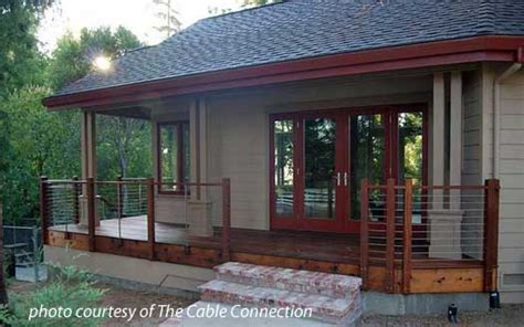 Mobile Home Ideas Decorating stainless steel cable railing porch railings deck