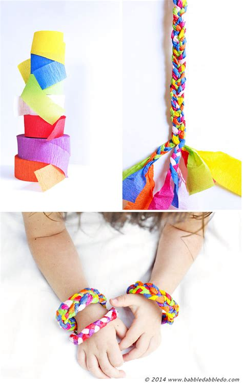 crepe paper craft ideas for design for crepe paper bracelets babble dabble do