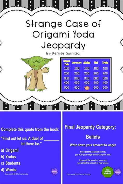 the strange of origami yoda questions 1000 images about literature units and grades 4 6