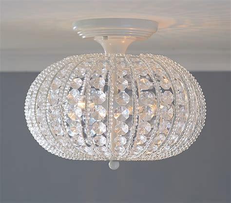 flush mount chandeliers clear acrylic flushmount chandelier pottery barn