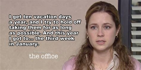 the office holding taking vacation officetally