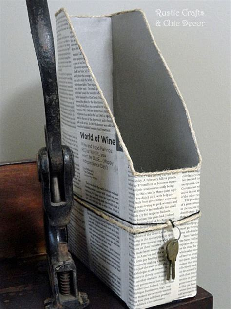 craft paper holder back to school organizing ideas rustic crafts chic decor