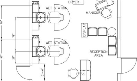 Free Cad Floor Plans beauty salon floor plan design layout 3375 square foot