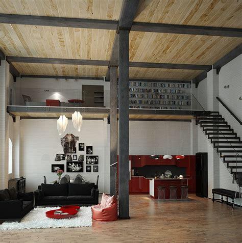 loft industrial industrial loft apartment interior design ideas