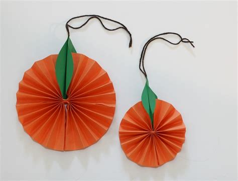 orange craft paper hanging citrus fruit paper craft for buggy and buddy