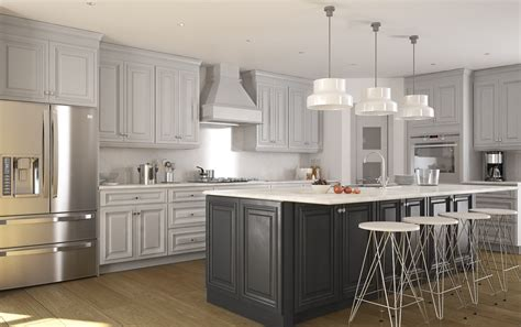 roosevelt dove gray pre assembled kitchen cabinets the