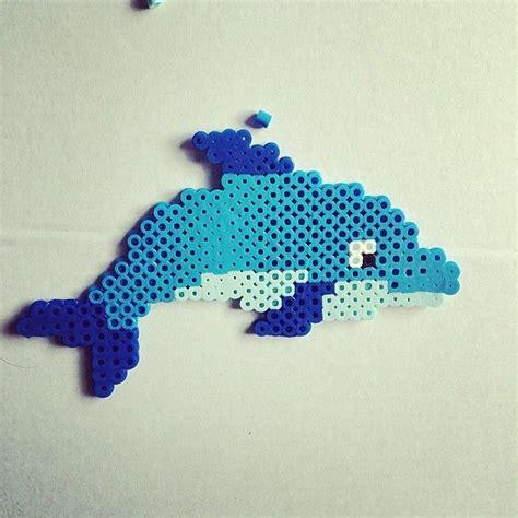 perler dolphin dolphin hama by kat mau5 hama