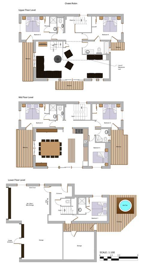 chalet plans floor plans chalet robin more mountain morzine