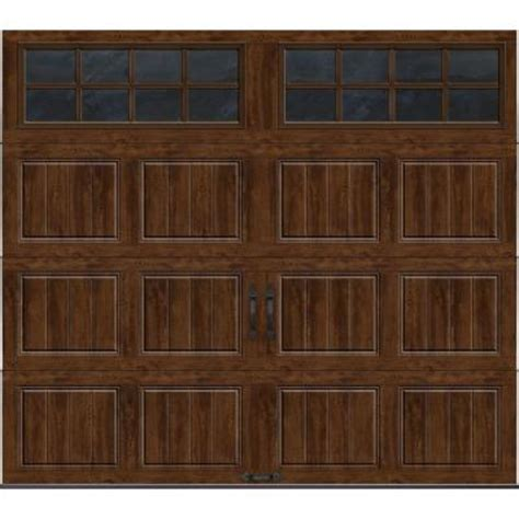 garage door at home depot clopay gallery collection 8 ft x 7 ft 18 4 r value