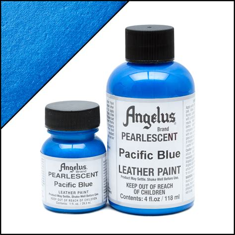 angelus paint legend blue pearlescent leather paint pacific blue turtle feathers
