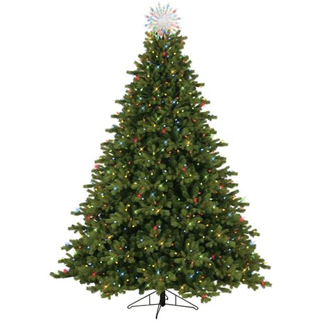 dual color tree general electric 7 5 pre lit just cut spruce tree