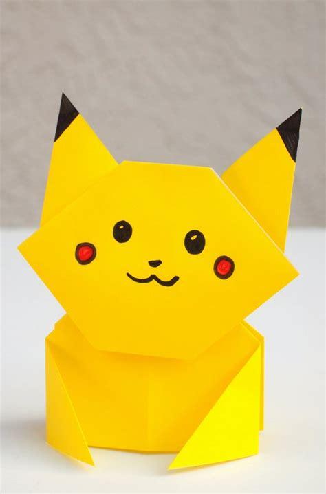 origami pikachu easy origami pikachu tutorial pink stripey socks