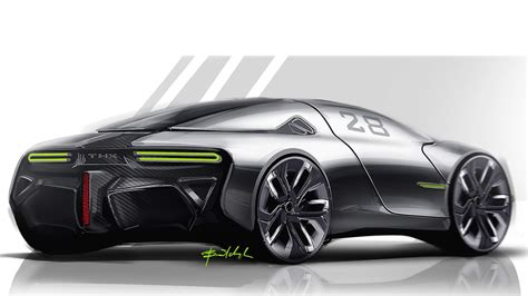 Sports Car Concept by Thx Concept Envisaged As Future Ev Sports Car