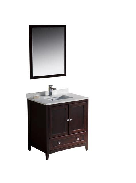 30 bathroom vanity with sink 30 inch single sink bathroom vanity in mahogany uvfvn2030mh30