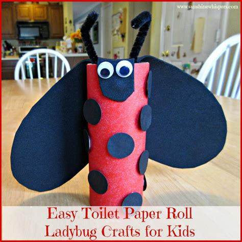 toilet paper crafts for easy toilet paper roll ladybug crafts for