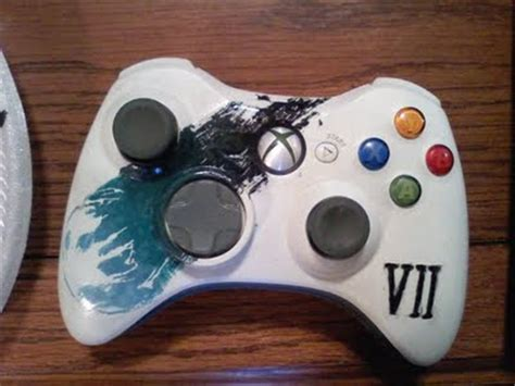 acrylic paint xbox controller the gamer september 2009