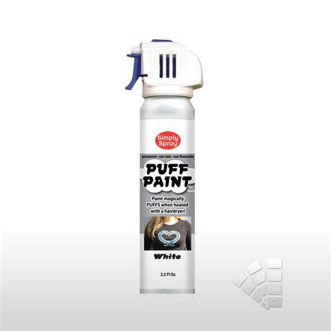 spray painting high humidity white puff paint simply spray onto fabric