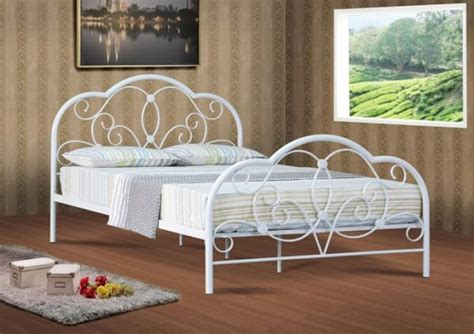 white metal bed white bed frame get a white bed frame at macys metal