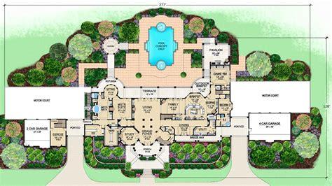 mediterranean mansion floor plans home design by