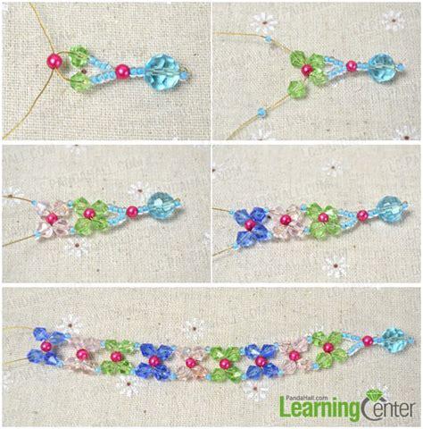 how to make a flower bead bracelet easy tutorial on beaded flower bracelet for