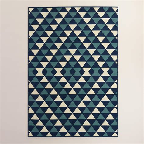outdoor rugs world market blue sapphire low profile indoor outdoor area rug world