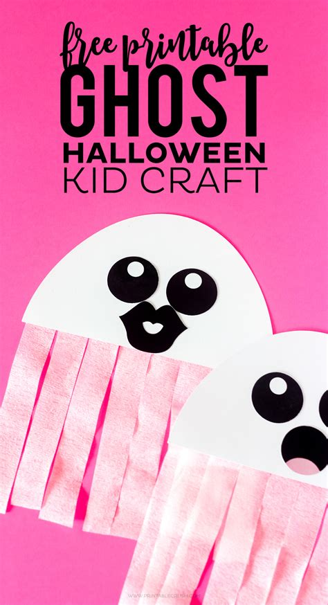 free kid crafts free printable ghost craft printable crush