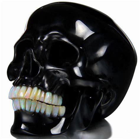 black skull black obsidian skull the skull appreciaton society