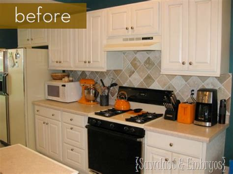 painted kitchen backsplash before and after painted tile backsplash kitchen bath