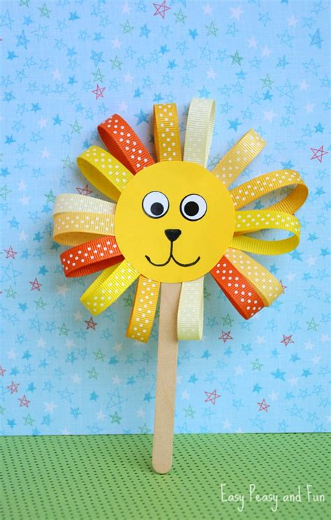 kid craft activities ribbon puppet craft crafts for easy