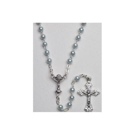 high quality rosary high quality imitation pearl rosary chalice simple link