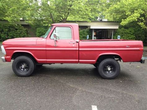 find used 1970 ford f100 ranger 4x4 box no reserve in renton washington
