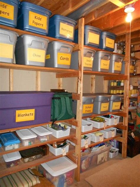 storage room ideas practical storage for an unfinished basement large