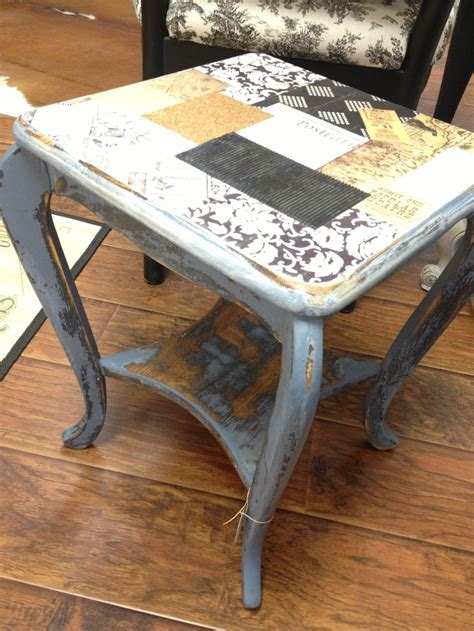 decoupage table top with fabric decoupaged table top artsy beautsy craftsy eatsy