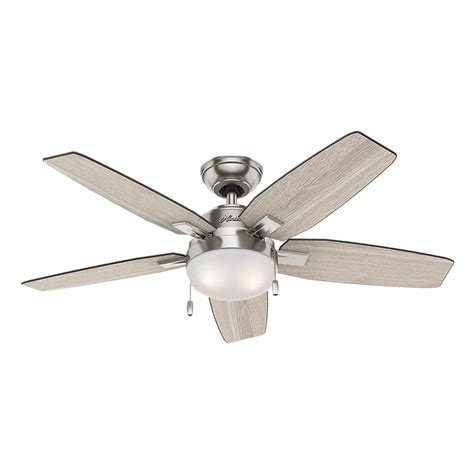 nickel ceiling fan with light antero 46 in led indoor brushed nickel ceiling fan