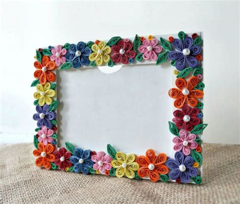 diy paper quilled photo frame