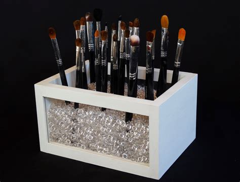 makeup holder small wood and acrylic makeup brush holder makeup brush