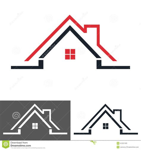 Home Design Logo home house icon logo stock vector image of drawing