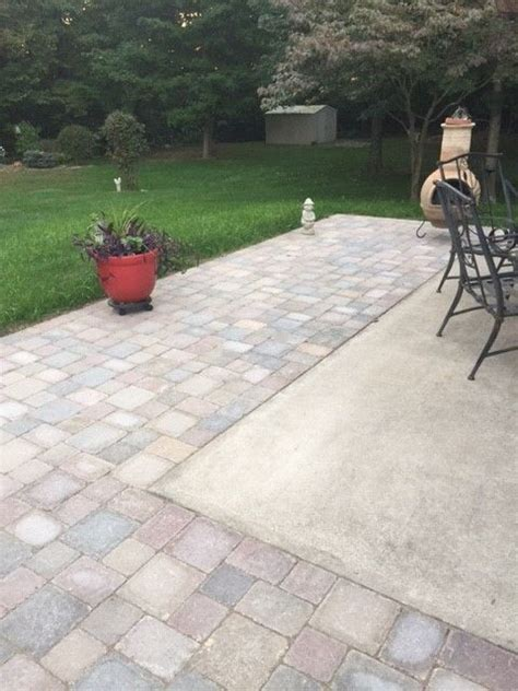 patio with concrete pavers extending concrete patio with pavers outdoor ideas and