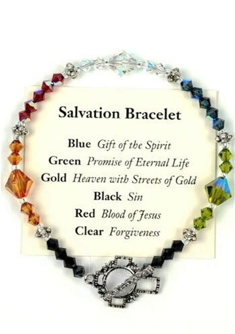 salvation bracelet color meaning salvation bracelet meaning of each color daily prayer
