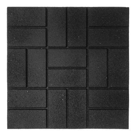 rubber st one day service envirotile cobblestone earth 18 in x 18 in rubber paver