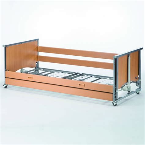side bed rails for bed medley ergo profiling bed low with wooden side rails